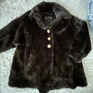 Ladies St John Brown Faux Fur Jacket France